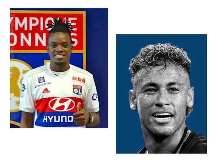 Ligue  Bertrand Traore Colle Un Carton Jaune A Neymar